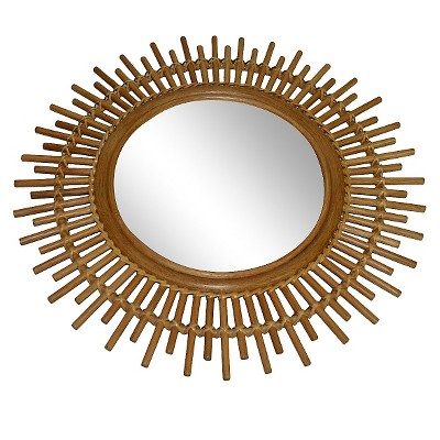 ECOM Threshold Rattan Round Wall Mirror