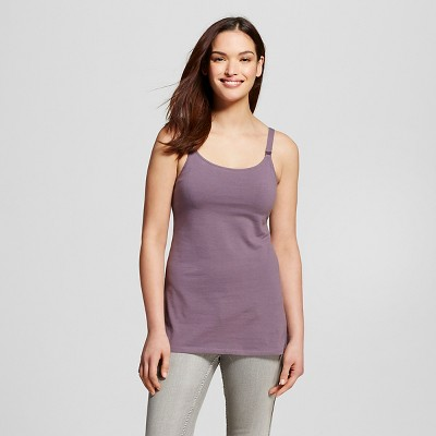 Women's Nursing Cotton Cami Plum Wink L - Gilligan & O'Malley™