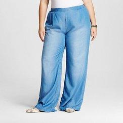 Women's Plus Size TENCEL® Wide Leg Pants - Merona™