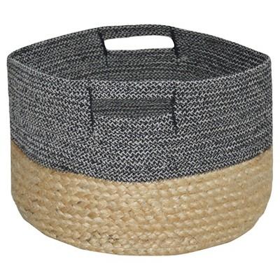 Small Round Woven Storage Basket - Dark Grey - Threshold™