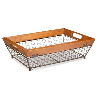Wire Rectangle Tray- Small - The Industrial Shop™