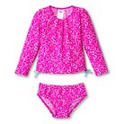 Toddler Girls' Just One You™ Made by Carter's® Hearts Long Sleeve 2-Piece Rash Guard Set Pink