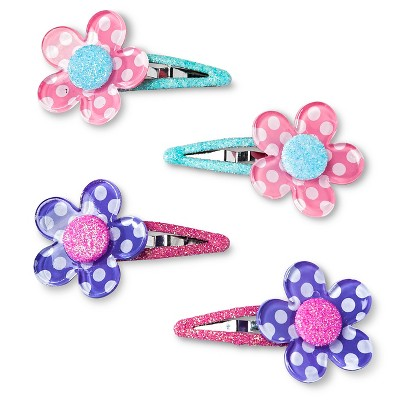 Girls' 5-Pack Polka Dots Clips/Barrette Multicolored One Size - Cherokee®