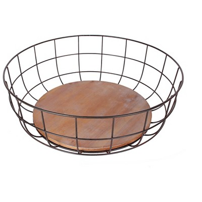 Iron and Wood Bowl-Medium - The Industrial Shop™