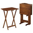 Acacia TV Tray table Set Brown - Linon Home Décor®