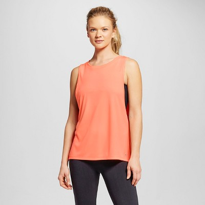 C9 Champion® Women's Active Muscle Tank - Deep Sea Coral S