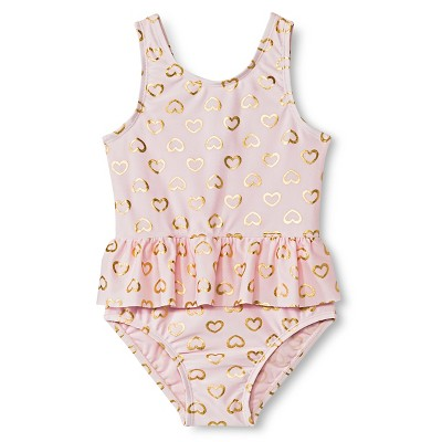 Just One You™ Made by Carter's® Baby Girls' Hearts One Piece Swimsuit 3M