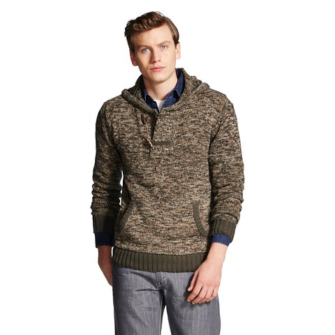 This indulgent men's shawl collar cardigan sweater is smartly detailed and sumptuously warm. Details This textural full-zip cable-stitch men's cardigan sweater incorporates three leather-trimmed toggle closures and is finished with a thick shawl collar.