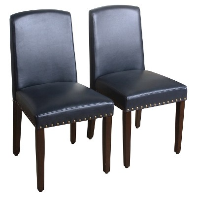 Lennox Dining Chair - Navy (Set of 2) - Threshold™