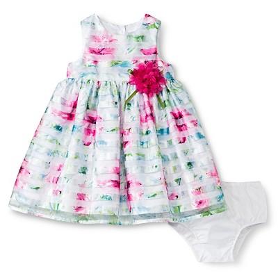 Baby Girls' Floral Dress White 12M - Cherokee®