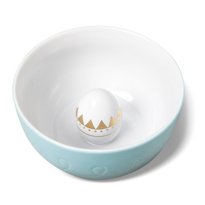 Large Figural Bowl -Light Blue with Egg (Real Gold) - Threshold™