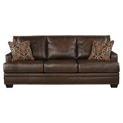 Keswick Tufted Leather Sofa Abbyson Living Target