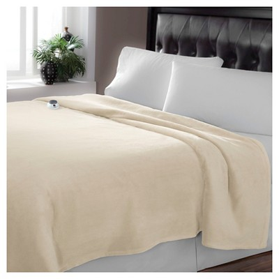 Serta® Luxe Plush Low Voltage Heated Warming Blanket