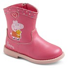 Toddler Girls' Peppa Pig Cowboy Boots - Pink