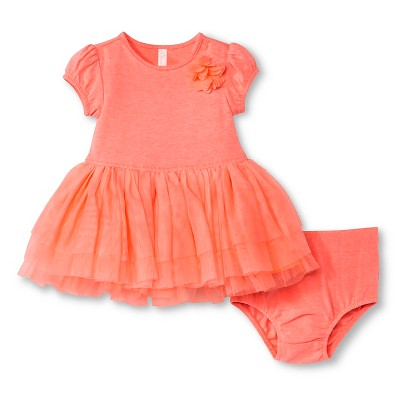 Baby Girls' Tutu Dress Moxie Peach 0-3M - Cherokee®