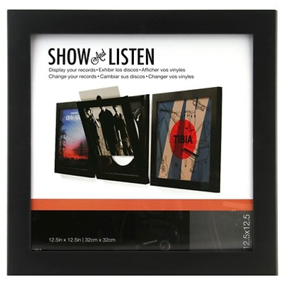 Snap Front-Opening Record Display Frame - Black