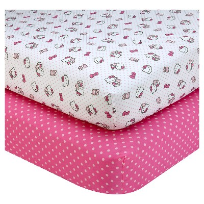 Hello Kitty Cute as a Button Sheet Set (2pk)