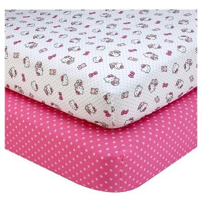 Hello Kitty Cute as a Button Sheet Set (2pk)