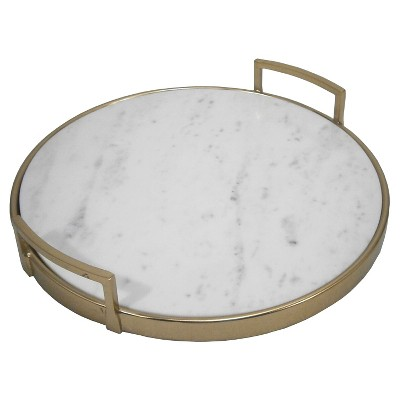 Serving Tray Threshold Gold Marble