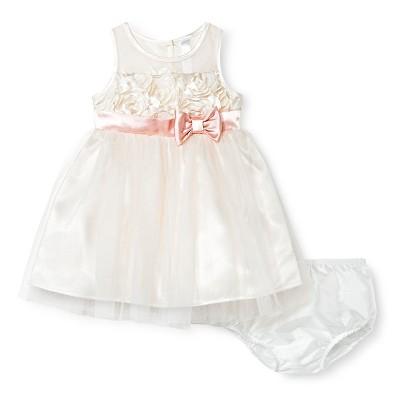 Baby Girls' Soutach Bodice Dress Pink 12M - Cherokee®