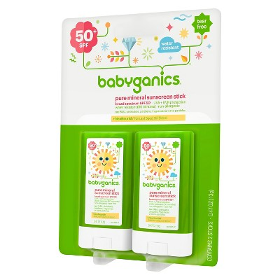 Babyganics Sunscreen Stick .47oz (2pk)