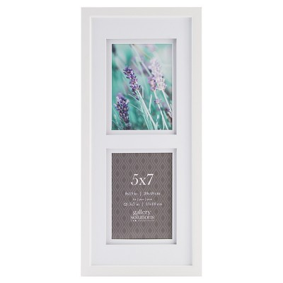 Gallery Solutions 2 Openings 5 x7  Frame - White