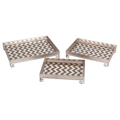 Privilege 3-Piece Iron Trays - Silver