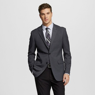 Men's Slim Fit Suit Jacket Gray M - Merona™