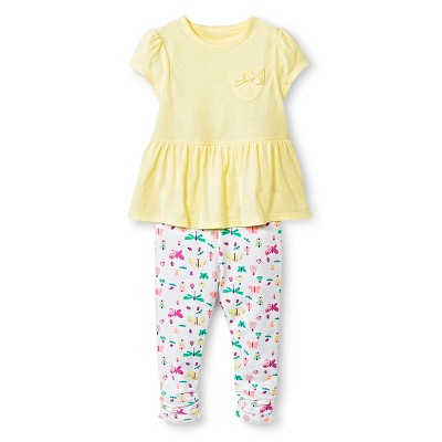 Baby Girls' Bodysuit and Legging Set Lemon Zest 0-3M - Cherokee®