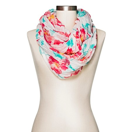 s floral infinity scarf and blue merona target