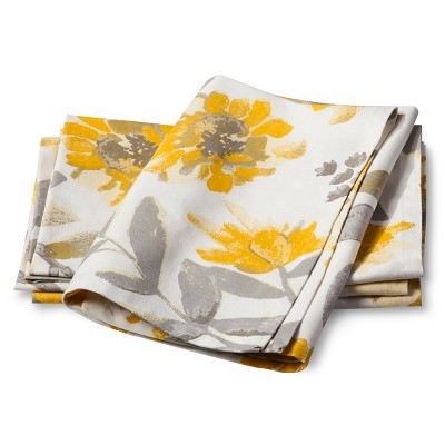 Floral Napkin - Yellow (Set of 4) - Threshold™