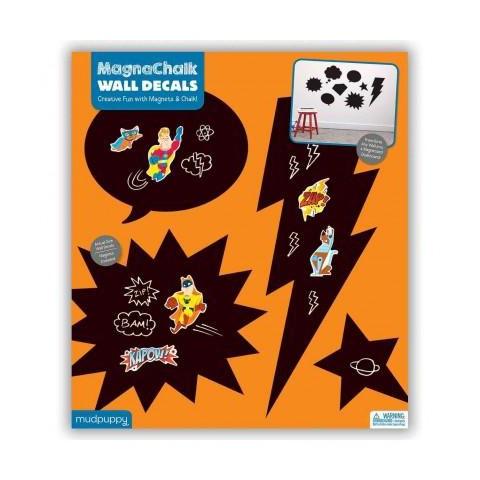 superhero magnachalk wall decals book target