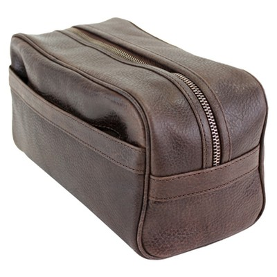 The British Belt Co. Men's Huxley Leather Dopp Kit Tan