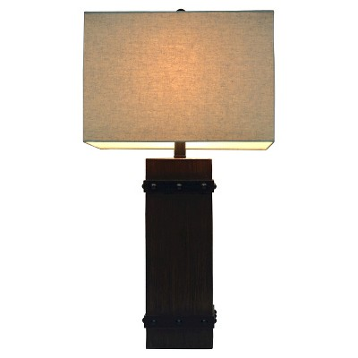 Rough Hewn with Corner Bracket Table Lamp - The Industrial Shop™