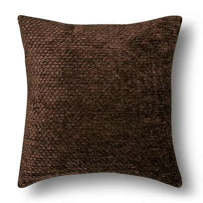 Chenille Throw Pillow - Brown Square – Threshold™