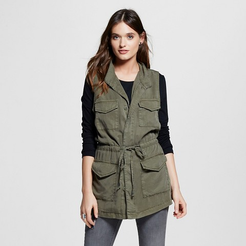 Women's Cargo Vest Dark Green - Mossimo