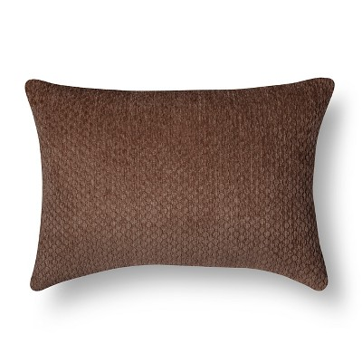 Chenille Throw Pillow - Brown Lumbar – Threshold™