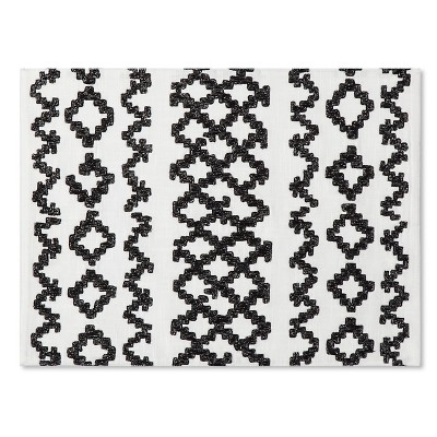 Lurex Embroidered Placemat - White - Threshold™