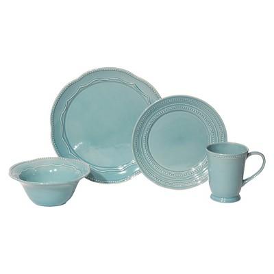 Baum, 16pc Adorn Turquoise Dinnerware Set