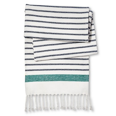 "Table Runner Engineered Stripe Blue (72"") - Threshold™"