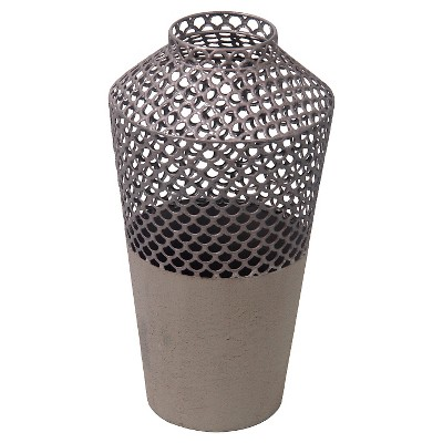 Privilege Small Metal Vase - Gray