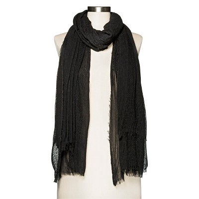 Women's Black Open Weave Scarf Merona™