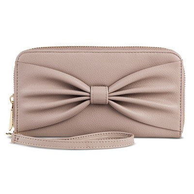 Women's Big Bow Faux Leather Wallet Tan - Mossimo Supply Co.™
