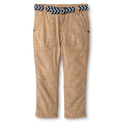 Male Chino Pants Genuine Kids Casual Brown 3T
