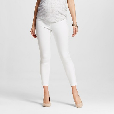 Maternity Over the Belly Ankle Skinny Jean - White M - Liz Lange® for Target