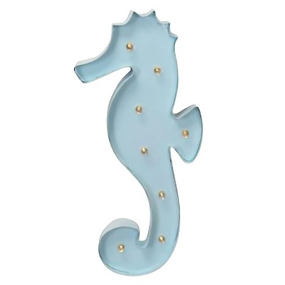 Seahorse Marquee Light Aqua - Pillowfort™