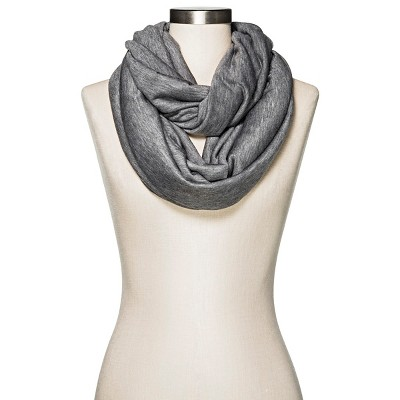 Women's Heather Grey Infinity Scarf - Merona™