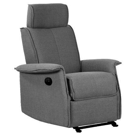 Power Motion Glider Recliner Chair Charcoal Fabric