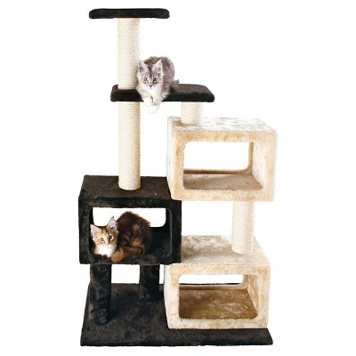 Tixie Pet Bartolo Cat Tree - Chocolate Brown