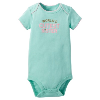 Just One You™Made by Carter's® Newborn Girls' Bodysuit – Mint 3M